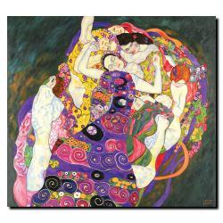 Gustav Klimt 'Virgins' Canvas Art