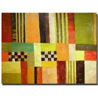 Michelle Calkins 'Color and Pattern Abstract' Canvas Art