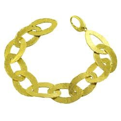 Fremada 14k Yellow Gold 7-inch Satin Finish Oval LInk Bracelet