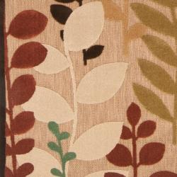 Woven Terrance Indoor/Outdoor Floral Rug (5 x 7'6) - Thumbnail 2