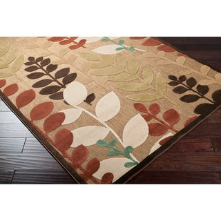 "Copper Grove Sierra Olefin Floral Area Rug - 2'6"" x 7'10"" Runner"