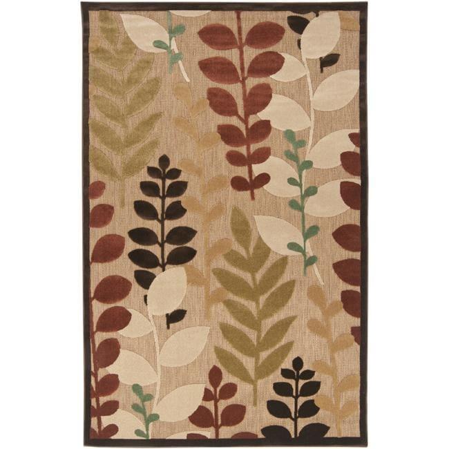 Woven Terrance Indoor/Outdoor Floral Rug (3'9 x 5'8)