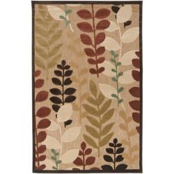 Woven Terrance Indoor/Outdoor Floral Rug (7'6 x 7'6)