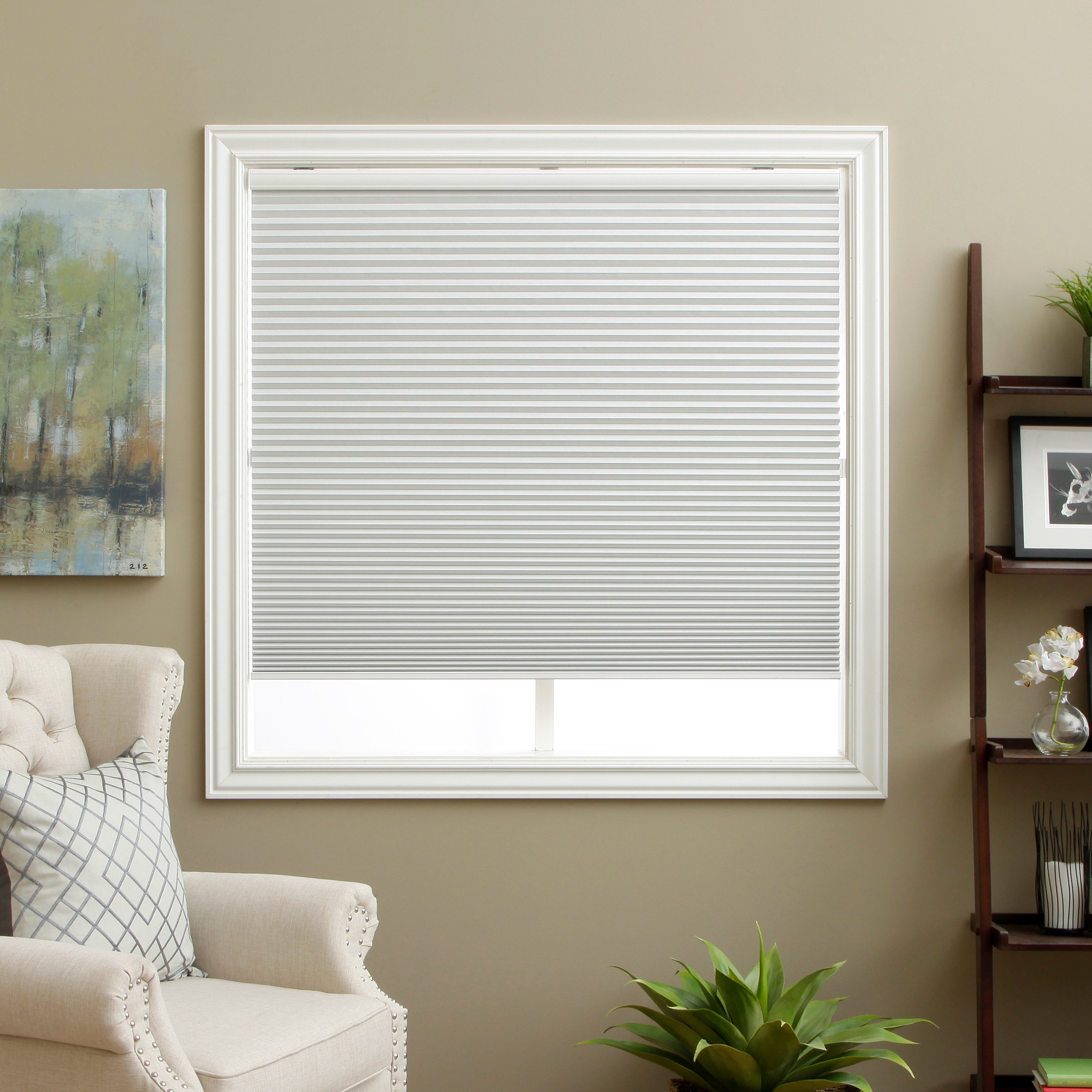 Arlo Blinds White Room Darkening Cordless Lift Cellular Shades Ebay