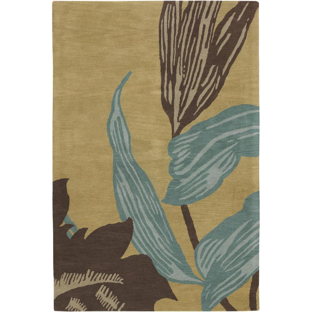 "Artist's Loom Hand-tufted Transitional Floral Wool Rug - 7'9"" x 10'6"""