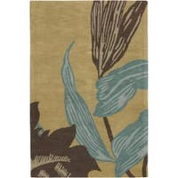 """Artist's Loom Hand-tufted Transitional Floral Wool Rug - 7'9"""" x 10'6"""""""