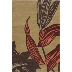"""Artist's Loom Hand-tufted Transitional Floral Wool Rug (7'9x10'6) - 7'9"""" x 10'6"""" - Thumbnail 0"""