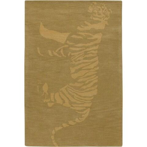 Artist's Loom Hand-tufted Contemporary Animal Print Wool Rug - 7'9