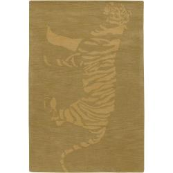 Artist's Loom Hand-tufted Contemporary Animal Print Wool Rug (7'9 Round) - Thumbnail 0