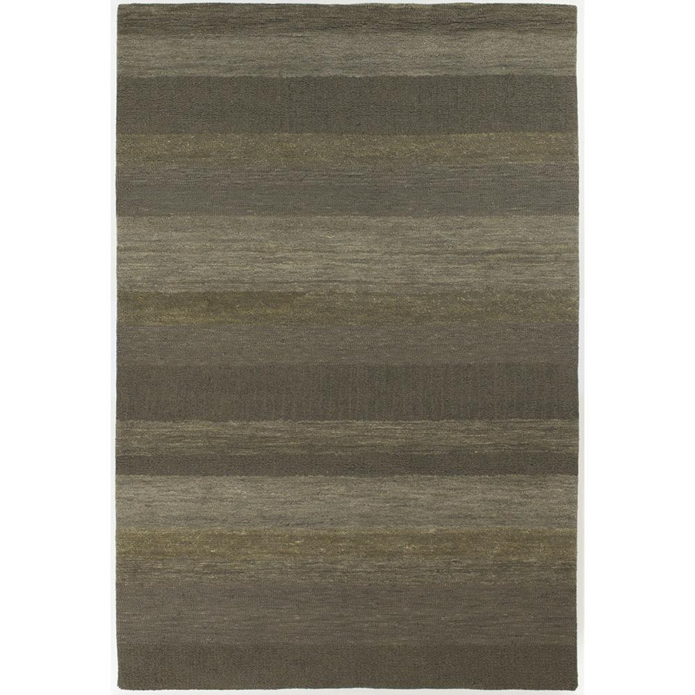 Artist's Loom Hand-tufted Casual Stripes Wool Rug (6'x9') - Thumbnail 0