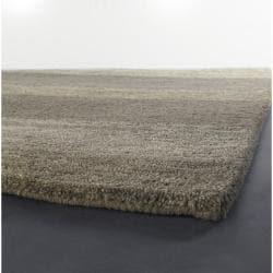 Artist's Loom Hand-tufted Casual Stripes Wool Rug (6'x9')