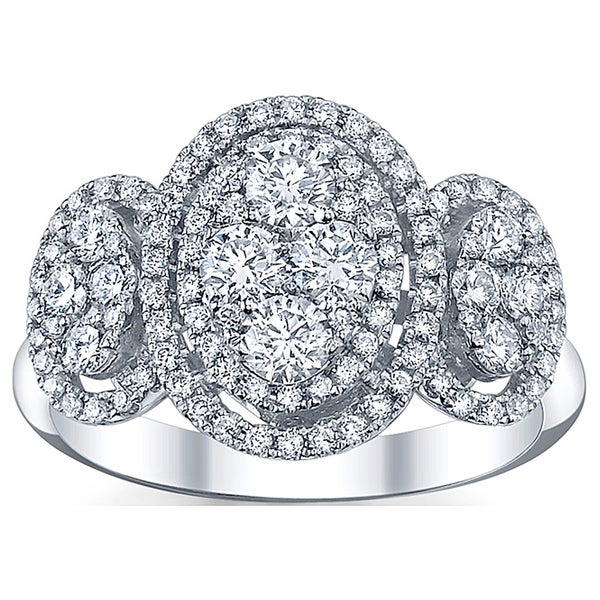 18k White Gold 1 1/4ct TDW Diamond Engagement Ring (G-H, SI1-SI2)