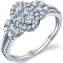 18k White Gold 7/8ct TDW Diamond Engagement Ring (G-H, SI1-SI2)