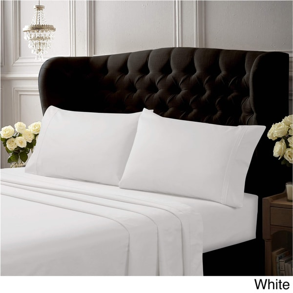 Fitted Sheet All USA Sizes White Solid 100/%Egyptian Cotton With All Deep Pocket