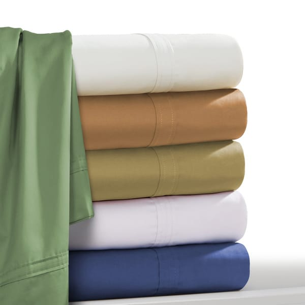 Egyptian Cotton 500 Thread Count Extra Deep Pocket Solid Bed Sheet Set