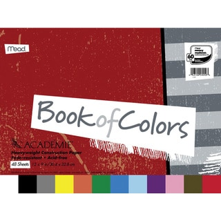 Mead Academie Book of Colors Construction Paper