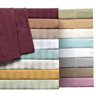 Delray 600 Thread Count Cotton-rich Diamond Embroidered Hem 6-piece Sheet Set