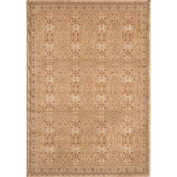 Preston Ivory Agra Rug (3'11 x 5'7)