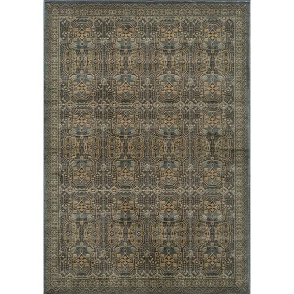 Preston Blue Agra Rug (5'3 x 7'6)