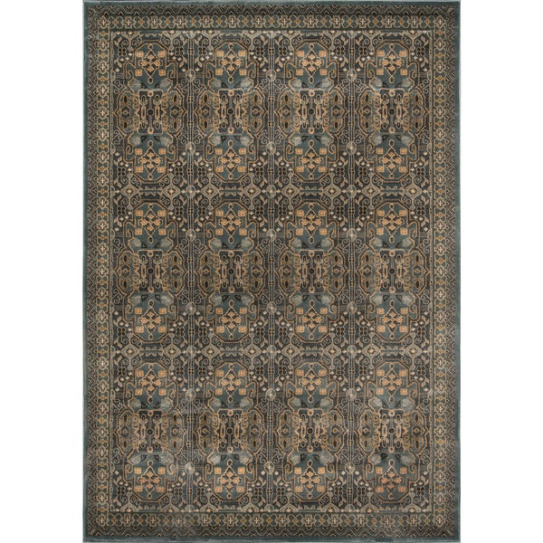 "Momeni Belmont Light Blue Agra Rug (7'10 x 9'10) - 7'10"" x 9'10"""