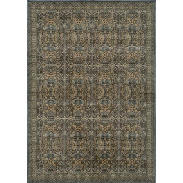 Preston Blue Agra Rug (7'10 x 9'10)