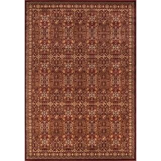 Preston Red Agra Rug (5'3 x 7'6)