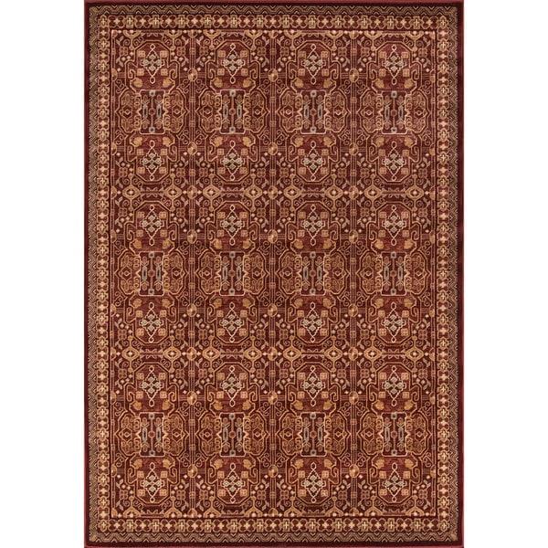 "Momeni Belmont Red Agra Rug (7'10 x 9'10) - 7'10"" x 9'10"""