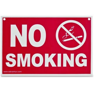 Advantus Economy No Smoking Wall Sign- Plastic-