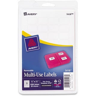 Avery Print or Write Removable White Multi-use Labels