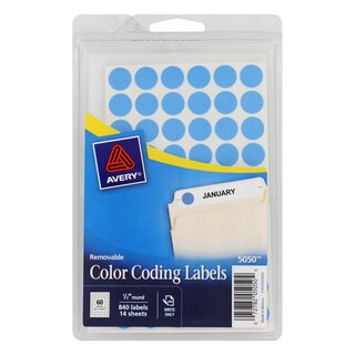 Avery Removable Self-adhesive Color-coding Labels