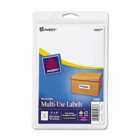 Avery Prin/ Write White Removable Multi-use Labels