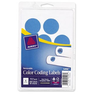Light Blue Avery Print or Write Removable Color-coding