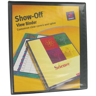 Avery Show-Off View 1-inch Binder with Round Rings