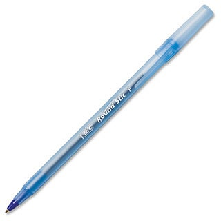 Blue BIC Round Stic Ballpoint Stick Pen Blue Ink-