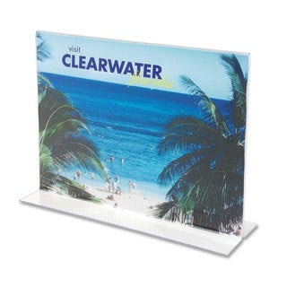 Clear Deflect-o Stand-up Double-sided Sign Holder