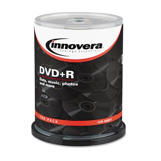 Innovera 4.7GB 16x DVD+R Disc 100-count Spindle