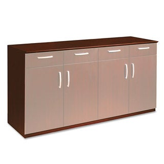 Mayline Wood Veneer Buffet Credenza Cabinet 72-inch wide x 22-inch deep x 36-inch high Sierra Cherry