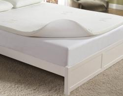Home Fashions International 2-inch Queen-size Memory Foam Topper with Cover - Thumbnail 1