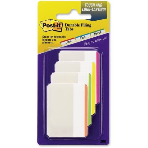 Assorted Post-it Durable File Tabs- 2 x 1 1/2- Striped-