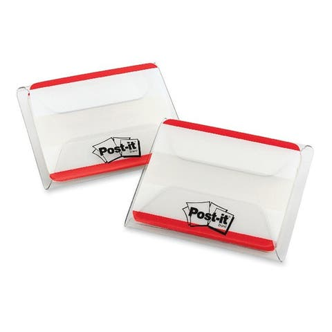 Red Post-it Durable File Tabs- 2 x 1 1/2- Striped-