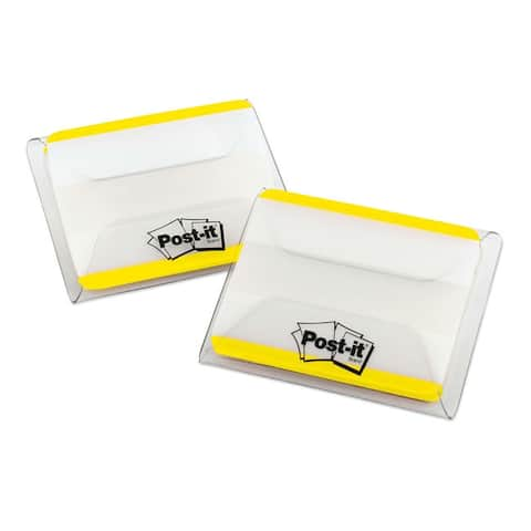 Yellow Post-it Durable File Tabs- 2 x 1 1/2- Striped-