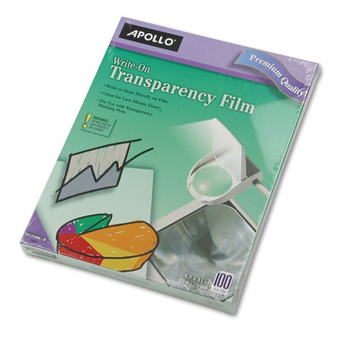 Apollo Write-On Transparency Film Letter Clear 100/Box