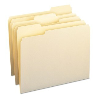 Smead Manila 1/3-cut Top Tab Letter File Folder
