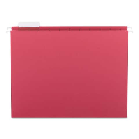 Smead 1/5 Tab Red Hanging File Folders (Pack of 25)