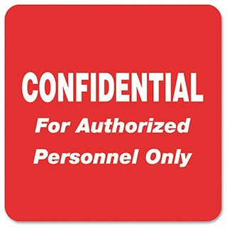 Red Tabbies Medical Labels for Confidential- 2 x 2-