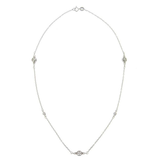 Icz Stonez Sterling Silver Cubic Zirconia 18-inch By the Yard Necklace