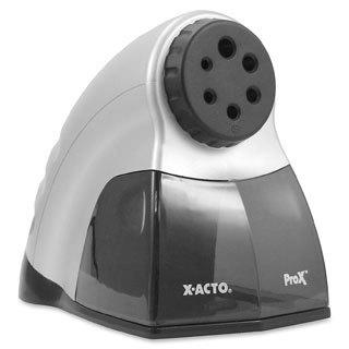 Silver X-ACTO ProX Electric Pencil Sharpener- Silver