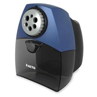 Black W/ Blue X-ACTO Teacher Pro Electric Pencil Sharpener-