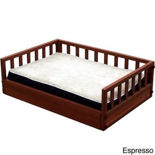 Medium Raised Chestnut Pet Bed