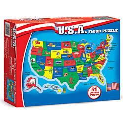 Melissa & Doug U.S.A. Map 51-piece Floor Puzzle (2' x 3')|https://ak1.ostkcdn.com/images/products/5912050/Melissa-Doug-U.S.A.-Map-51-piece-Floor-Puzzle-2-x-3-P13615515.jpg?impolicy=medium